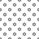 Vetor sem emenda do teste padrão de estrela de David ilustração stock