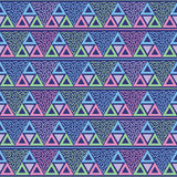 Vetor sem emenda do teste padrão de memphis do triângulo Imagem de Stock Royalty Free