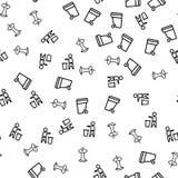 Vetor sem emenda do teste padrão do lixo do alimento da eliminação ilustração stock