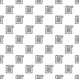 Vetor sem emenda do teste padrão do papel do escritório ilustração do vetor