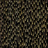 Vetor sem emenda do teste padrão preto luxuoso das flâmulas do partido do ouro ilustração do vetor