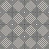 Vetor sem emenda geométrico do teste padrão Fotos de Stock