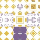 Vetor sem emenda geométrico simples abstrato do teste padrão Foto de Stock