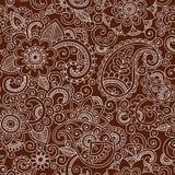 Vetor sem emenda Illus do teste padrão de Mehndi Paisley do Henna Fotos de Stock Royalty Free