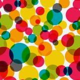 Vetor sem emenda Illust do fundo do teste padrão do círculo lustroso abstrato Imagem de Stock