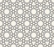 Vetor sem emenda inspirado islâmico do teste padrão Fotos de Stock