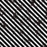Vetor sem emenda teste padrão alinhado Fundo preto e branco geométrico criativo com linhas diagonais ilustração do vetor