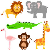 Vetor set of cute animals Royalty Free Stock Photography
