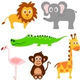 Vetor set of cute animals Royalty Free Stock Photography