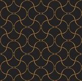 Vetor Shell Art Deco Seamless Pattern Fundo abstrato geométrico ilustração do vetor