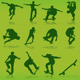 Vetor Skateboarding Imagens de Stock Royalty Free