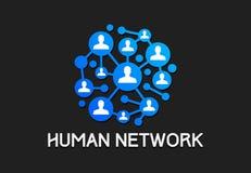 Vetor social da tecnologia de rede dos povos ilustração royalty free
