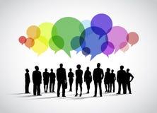 Vetor social dos trabalhos em rede do negócio ilustração do vetor