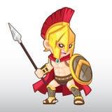 Vetor Spartan Warrior Illustration Foto de Stock