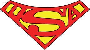 Vetor super do símbolo do homem S de uma nação dividida Fotografia de Stock Royalty Free