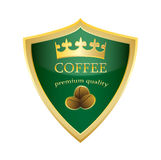 Vetor superior da qualidade do café do ícone do protetor ilustração stock