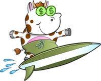 Vetor surfando da vaca de dinheiro Fotos de Stock Royalty Free