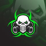 Vetor tóxico do projeto do logotipo da mascote com estilo moderno do conceito da ilustração para a impressão do crachá, do emblem ilustração royalty free