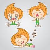 Vetor tailandês doce dos desenhos animados dos doces da menina do caráter Imagem de Stock Royalty Free