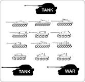 Vetor - tanque - guerra - ícone Imagens de Stock