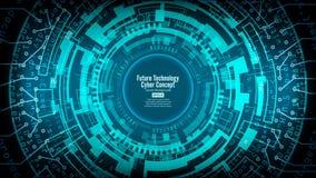 Vetor tecnologico futurista abstrato do fundo Olá! projeto de Digitas da velocidade Contexto da rede da segurança ilustração royalty free