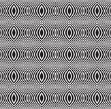 Vetor ótico sem emenda do fundo do teste padrão da arte preto e branco Fotos de Stock