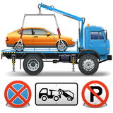 Vetor Tow Truck Imagem de Stock