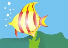 Vetor tropical dos peixes ilustração royalty free