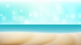 Vetor tropical vazio do fundo da praia Ilustração tropical do Seascape Conceito da aventura do feriado do curso exotic ilustração do vetor