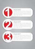 Vetor uns, duas, três etiquetas Fotos de Stock