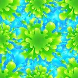 Vetor vívido azul e verde do respingo da pintura da cor ilustração royalty free