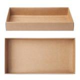 Vetor vazio da caixa de papel imagens de stock