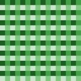 Vetor verde da toalha de mesa Vetor tradicional do teste padrão da toalha de mesa Teste padrão do quadrado da cor verde Imagem de Stock Royalty Free