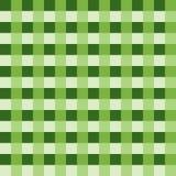 Vetor verde da toalha de mesa Vetor tradicional do teste padrão da toalha de mesa Teste padrão do quadrado da cor verde Foto de Stock