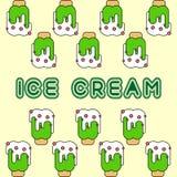 Vetor verde do teste padrão do gelado da cópia ilustração do vetor