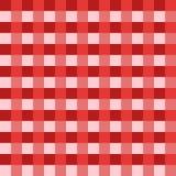 Vetor vermelho da toalha de mesa Vetor tradicional do teste padrão da toalha de mesa Teste padrão do quadrado da cor vermelha Fotos de Stock