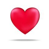 Vetor vermelho do ícone do coração Símbolo do amor Sinal do dia do ` s do Valentim, emblema isolado no fundo branco com sombra, Foto de Stock Royalty Free