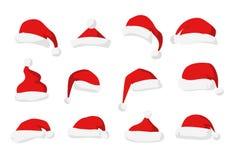 Vetor vermelho do chapéu de Santa Claus ilustração stock