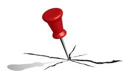 vetor vermelho do Pin do papel 3d Imagem de Stock