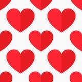 Vetor vermelho dos corações Imagem de Stock Royalty Free