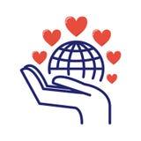 Vetor voluntário do ícone da doação de sangue Imagem de Stock Royalty Free