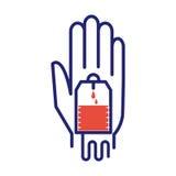 Vetor voluntário do ícone da doação de sangue Imagens de Stock Royalty Free