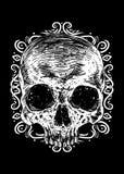 vetor wrear Art Illustration do crânio ilustração stock