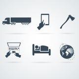 Vetores ajustados ícones Imagem de Stock