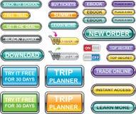 Vetores da coleção dos botões Imagem de Stock Royalty Free