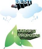 Vetores da natureza - anuncie Imagem de Stock Royalty Free