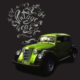 vetores da rotulação do carro do vintage ilustração royalty free