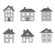 Vetores das casas Imagem de Stock
