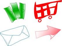 Vetores do comércio electrónico ilustração do vetor