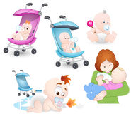 Vetores do dia de mães Foto de Stock Royalty Free